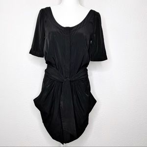 All Saints Spitalfields Grommet Button Front Dress